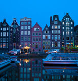 Canal houses. On Singel, Amsterdam, Netherlands Royalty Free Stock Photography
