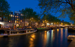 Canal houses royalty free stock image