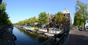Canal houses in Amsterdam Stock Image