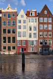 Canal Houses in Amsterdam Royalty Free Stock Images
