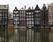 Canal Houses in Amsterdam, The Netherlands Royalty Free Stock Images