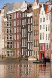 Canal Houses in Amsterdam Stock Images