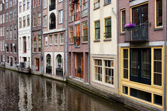 Canal Houses in Amsterdam Royalty Free Stock Image