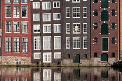 Canal Houses in Amsterdam Stock Photo