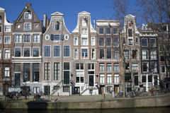 Canal houses in the centre of Amsterdam Royalty Free Stock Photos