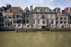 Canal houses in Dordrecht Stock Photography