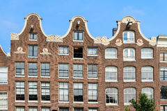 Canal houses facade Royalty Free Stock Images