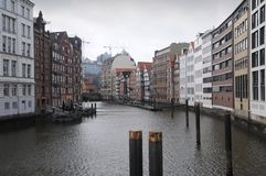 Canal houses in Hamburg Stock Photos