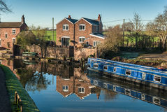 Canal Houses Stock Photography