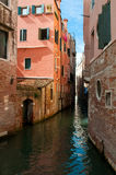 Canal between houses venice Royalty Free Stock Photography