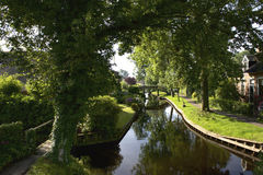 A canal in the idyllic village Giethoorn. Stock Photography