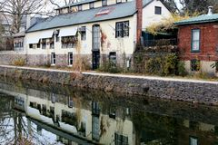 On the canal. This image is in Lambertville, NJ along the canal and towpath Royalty Free Stock Photos
