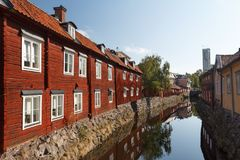 Free Canal In The Old Town Of Vasteras Stock Images - 102794534