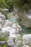 Canal inclinado Imagen de archivo