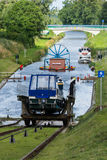 Canal inclined plane at ElblÄ…g Canal. Canal inclined plane at Elbląg Canal in poland royalty free stock image