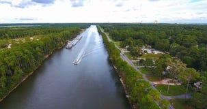 canal Inter-côtier dans des rivages de Golfe, Alabama Images libres de droits