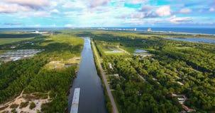 canal Inter-côtier dans des rivages de Golfe, Alabama Photographie stock