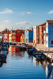 Canal at island Murano in Venice Italy Stock Photo