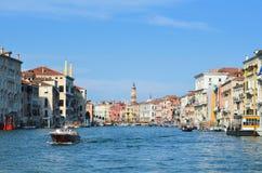 Canal Italia del gran de Venecia Imagenes de archivo