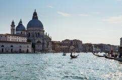 Canal Italia del gran de Venecia foto de archivo