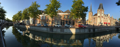 Canal in Kampen Royalty Free Stock Images