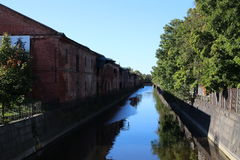 Canal in Kronstadt. Russian federation Royalty Free Stock Image