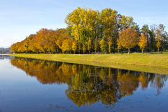 Canal at lake chiemsee Royalty Free Stock Image
