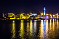 Canal in Le Grau du Roi at night, Camargue, France Stock Photography
