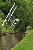 Canal lift bridge, Llangollen canal Royalty Free Stock Photography