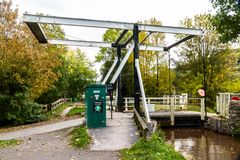 Canal Lift Bridge. The Monmouthshire and Brecon Canal, Talybont on Usk, Wales, United Kingdom Stock Photos