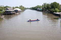 Canal local tailandés Foto de archivo