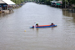 Canal local thaïlandais Image libre de droits