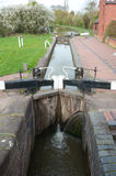 Canal Lock. Set of lock gates on a canal Stock Image