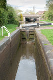 Canal Lock. Set of lock gates on a canal Stock Images