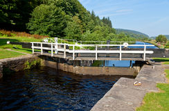 Canal Lock. Lock on the Crinan Canal in Scotland Royalty Free Stock Photography