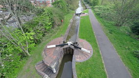 Canal Lock. stock video