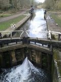 Canal lock at Cassiobury Park Nature Reserve Royalty Free Stock Photography