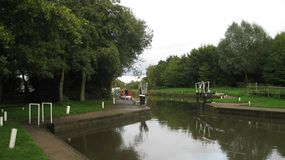 Canal lock Royalty Free Stock Image