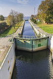Canal lock / Floodgate / lock Statek na rzece Royalty Free Stock Photography