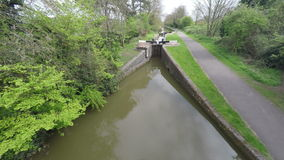 Canal and Lock Gates stock video