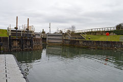 Canal Lock Gates Stock Photos