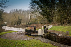 Canal Lock Gates Royalty Free Stock Image