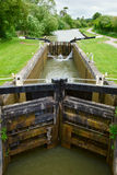 Canal Lock. Lock on the Kennet and Avon Canal in England royalty free stock images