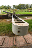 Canal lock, Kennett and Avon Canal Royalty Free Stock Images