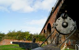 Canal lock mechanism Royalty Free Stock Photography