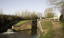 Canal lock near Stratford-Upon-Avon Royalty Free Stock Images