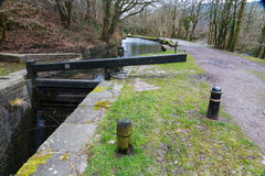 Canal lock, Neath  Canal. Royalty Free Stock Photo