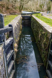 Canal lock, Neath  Canal. Stock Photos