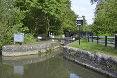 Canal Lock, Oxford stock photos