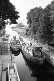 Canal lock in Przegalina. Gdansk Sobieszewo Przegalina, Poland, 16 September, 2012 - Northern Canal lock in Przegalina - view towards the Dead Vistula. Photo Royalty Free Stock Photography